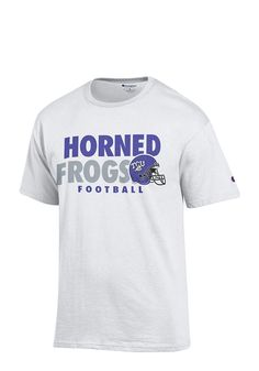 e093d0eab4280 TCU Horned Frogs White Football Short Sleeve T Shirt