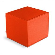 Modern orange cube... sure to brighten up your room