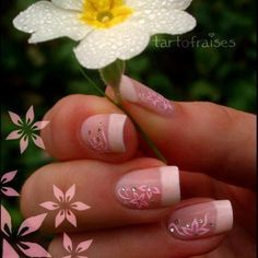 Simple French Mani - Nail Art Designs / Pretty Pink / Elegant Nails More Source by Pedicure Designs, Manicure E Pedicure, Cute Nail Designs, French Pedicure, Get Nails, Fancy Nails, Hair And Nails, Fabulous Nails, Gorgeous Nails
