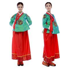 Hanbok ropa coreano, hanbok tradicional coreano ropa, corea del sur mostrar traje nacional, desgaste de