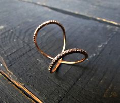 Items similar to Solid Gold Double Ring, Twisted Circle Ring w Clear or Black Cubic zirconia, Double Gold Ring on Etsy Double Ring, Handmade Jewelry, Unique Jewelry, Solid Gold, Valentine Day Gifts, Wedding Jewelry, Heart Ring, Gold Rings, Accessories