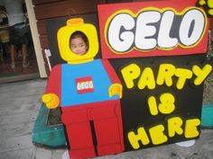 lego party backdrops for photos | Re: Lego City 1st Birthday Party Theme
