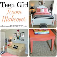 How to make your Teen Girl Happy {A room makeover} - At Home With The Barkers
