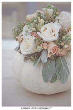 White pumpkin vase!