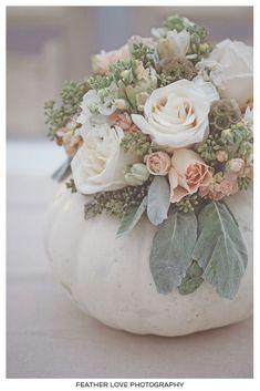 White pumpkin vase!