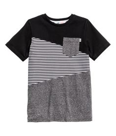 Color-block T-shirt | Black | Kids | H&M US