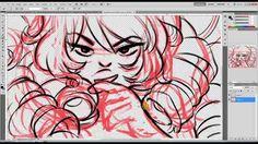 Rose's Secrets: Rose Quartz Steven Universe Time Lapse Drawing