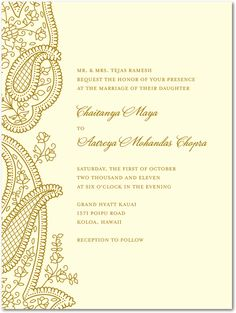 Henna Flower Premium Recycled Wedding card Weddings and Indian