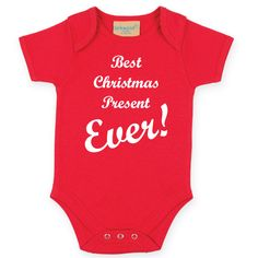 Best Christmas Present Ever Baby Bodysuit. Christmas Baby Grow. Baby Christmas Outfit. Baby Onesie. Holidays Baby Gift. by SoPinkUK on Etsy