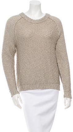 Reed Krakoff Metallic Crew Neck Sweater Crewneck Sweaters, Reed Krakoff, Crew Neck, Metallic, Pullover, Stylish, Tops, Women, Fashion