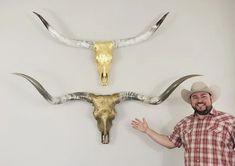 Gilded Wild creates beautiful pieces of sculpture art out of Texas Longhorn skulls and horns. Longhorn Skulls, Cedar Park, Metalworking, Spirit Animal, Sculpture Art, Horns, Photo Galleries, Wallpaper, Artist