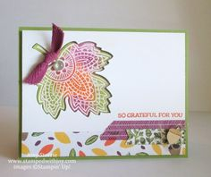 stampin up lighthearted leaves - Google Search