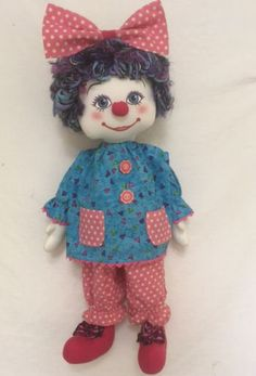 Jester cloth doll soft toy sewing pattern Fun and colourful