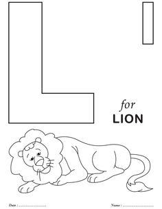 Printables Alphabet L Coloring Sheets