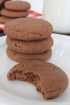 "4 ingredient Chocolate Peanutbutter Cookies. One pinner said ""I had all the ingredients and thought I would give these a try as a quick treat for the kids. OH EM GEE! This is now my favorite cookie recipe!!! These are going to be perfect for the holidays!"""