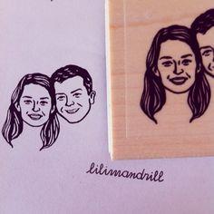 Custom Face Stamp @lilimandrill www.lilimandrill.fr #etsy #couples portraits #etsygifts #etsywedding #wedding #mariage #bride #diy #couple #stamp #rubberstamp #shopsmall #handmade #gift #weddinggift #invitations #weddinginvitations #invites #etsylove #etsymatch #engagement #bridesmaid