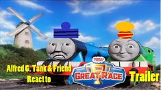 "On this day, 2 years ago, a reaction video on the trailer for the ""Thomas & Friends"" movie, ""The Great Race"" with Alfred G. Tank and his friend was first released onto YouTube! =)"