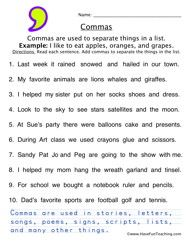 Comma Worksheet 3 Classroom Pinterest Worksheets Punctuation