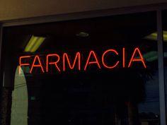 Mexico, neon, sign, farmacia, drug store sign, neon sign