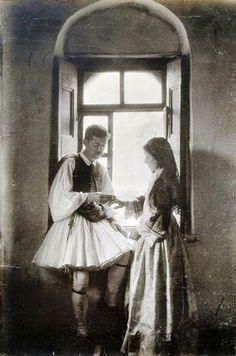Greece Pictures, Old Pictures, Old Photos, Greek Dress, Corfu Town, Greek Culture, History Of Photography, Folk Dance, Great Photographers