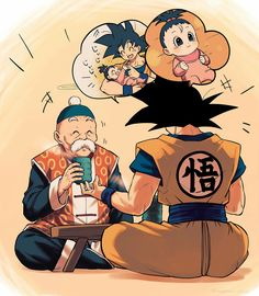 [Dragon Ball Z] . I always wondered why didn't boku ever wish back his dad from earth with the dragons balls he stemmed like a nice guy . Dragon Ball Gt, Dragonball Goku, Dragonball Super, Fanarts Anime, Manga Anime, Anime Art, Son Goku, Super Manga, Comic Art