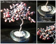 Hand Crafted Rhodonite Gemstone Tree Sculpture by TheUniqueGemLady, £16.00