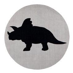 Decorative Printed Round Floor Rug Dino