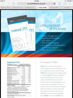 Men's Thrive Capsules (step one) before your feet hit the floor.