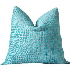 This is a Gorgeous, Beautiful and Stunningly Soft Pillow for the Bedroom, Sitting Room or Living Room. Medium weight Chenille Animal Design Pillow Cover. This cover is very soft and plush!  *Front Only: Turquoise and Bone Animal Cub Chenille Fabric *Back is an Ivory Colored Linen Fabric  *This listing is for One Pillow Cover. The Pillow Insert is not included. - Invisible YKK zipper enclosure for a tailored look - All seam are surged and double stitch for durability and professional finish…
