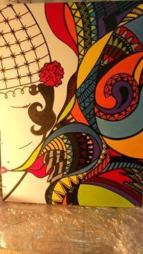 Fala - acervo Acrílica - tela 90X70 arte - art - pintura - tela
