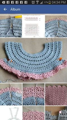 Ideas for baby girl crochet clothes stitches Crochet Girls Dress Pattern, Baby Girl Crochet, Crochet Baby Clothes, Crochet For Kids, Crochet Patterns, Pattern Dress, Stitch Patterns, Crochet Fabric, Knit Crochet