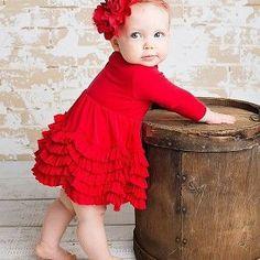 Lemon Loves Layette Red Jada Dress