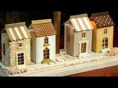 Diy Christmas Garland, Diy Garland, Easy Christmas Crafts, Simple Christmas, Putz Houses, Box Houses, Paper Houses, House Template, Decoupage Vintage