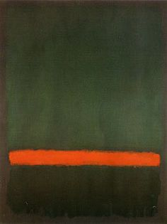 dailyrothko: Mark Rothko, No 15 (Two greens and a red stripe), 1964