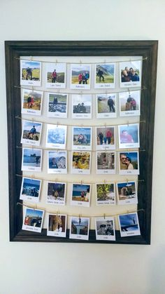 How to use picture frames in interior Design? Instax Frame, Polaroid Frame, Polaroid Ideas, Wooden Pegs, Wooden Diy, Handmade Wooden, Handmade Picture Frames, Wooden Picture Frames, Polaroid Pictures Display