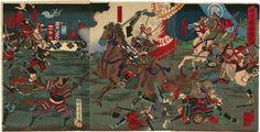周延 Chikanobu  『味方ヶ原合戦之図』 -本多忠勝・三方ヶ原の戦い-