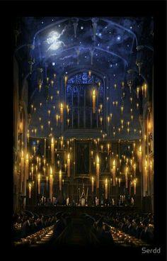 Hogwarts - Gran comedor - Harry Potter - Dumbledore