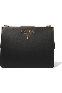 Prada | Frame textured-leather shoulder bag | NET-A-PORTER.COM