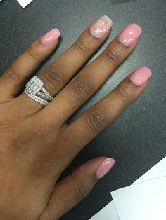 SNS on my natural nails and a ring set to die for