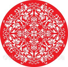Трафарет Розетка 30см многоразовый (арт. цф-6), фото 1