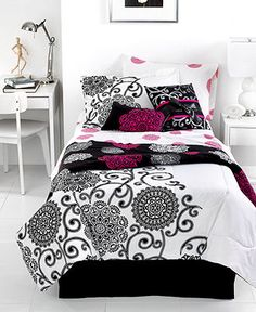 Silver Medallion 4 Piece Comforter Sets - Teen Bedding - Bed & Bath - Macy's #MacysFavoriteThings