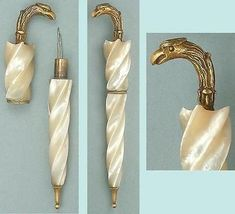 Antique Mother Of Pearl Palais Royal Parasol Needle Case * Circa 1820 in Antiques | eBay: