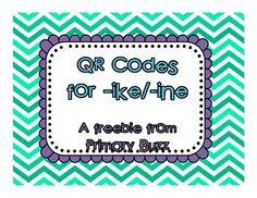 QR Code Center - Word Families ike/ine