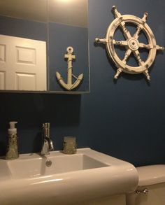 Our new sailor bathroom! Inspired by my father Captain Cruz