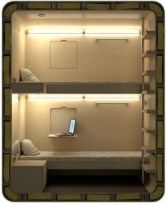 Sleep Box - Mini Hotels In Tokyo, the Capsule Inns exemplify the bare-essentials hotel rooms for brief use, and similar concepts are popping up at airports, train stations and cities around the world . The Cool Hunter - Sleep Box - Mini Hotels