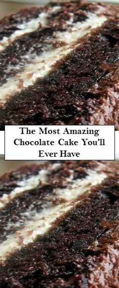 The Most Amazing Chocolate Cake You'll Ever Have - Cake Recipes Köstliche Desserts, Chocolate Desserts, Chocolate Cake, Delicious Desserts, Yummy Food, Baking Recipes, Cake Recipes, Dessert Recipes, Take The Cake