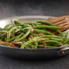 Salad Supreme Seasoning adds flavor pizzazz to fresh green beans. The blanching step helps the green beans keep their bright green color and crisp texture.