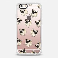 PUG PATTERN - New Standard Case in clear & clear by Katie Reed | @casetify