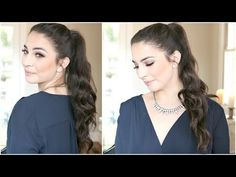 Longer Ponytail in 2 Minutes (No Extensions) - YouTube