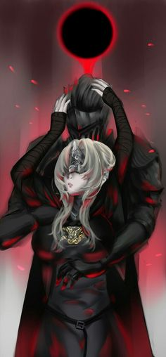Ashen One and Fire Keeper after the darknest descent Fantasy Heroes, Fantasy Girl, Fantasy Characters, Dark Souls Fire Keeper, Ciri Witcher, Soul Saga, Arte Dark Souls, Character Art, Character Design